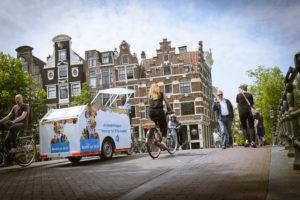 Vanaf 2 juni start AH met het bezorgen van boodschappen met de elctrische fiets en electrische bestelbus
